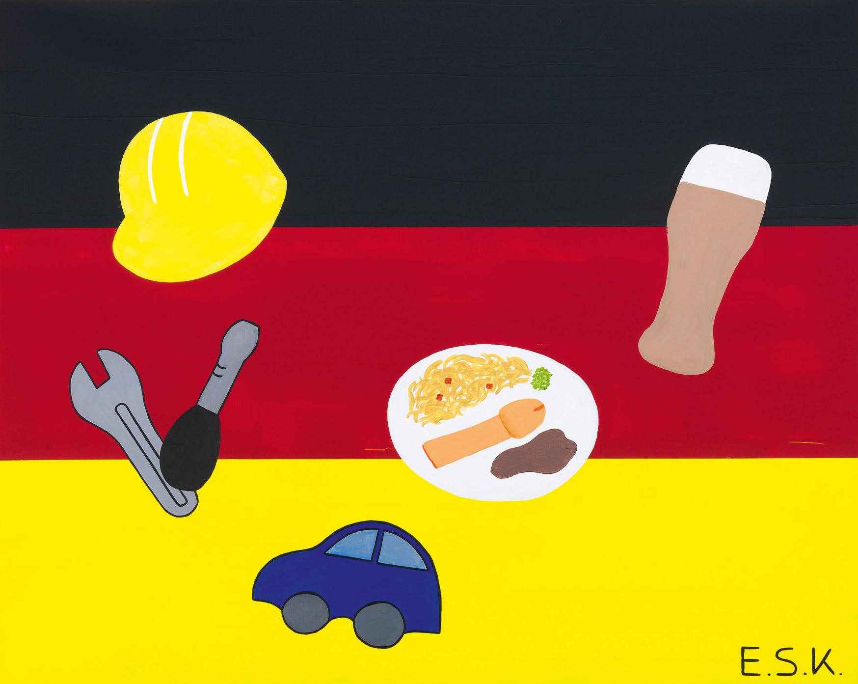 Pop Deutschland - Wuerstchen Pop Art by E.S.K. Eileen Susanne Kreipl