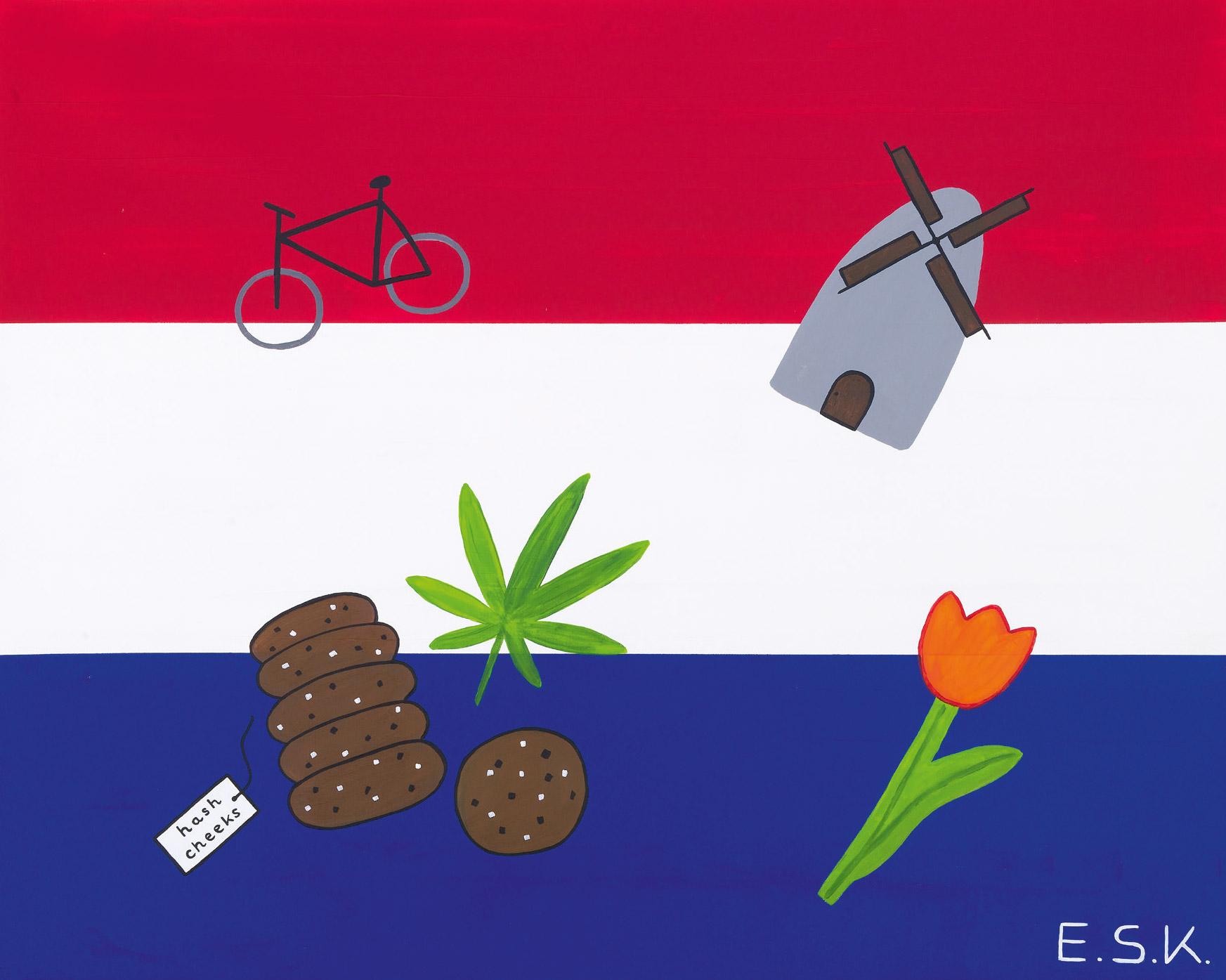 Niederlande -Cheeky Pop Art by E.S.K. Eileen Susanne Kreipl