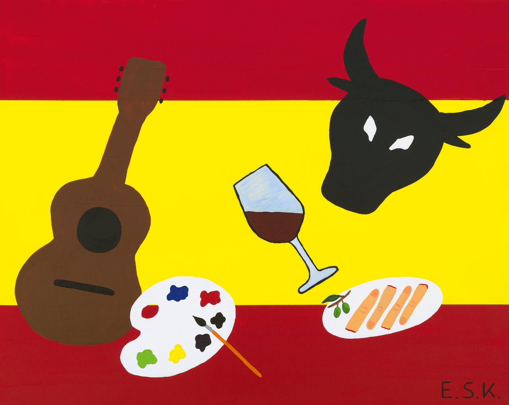 Pop Spanien - Finger Food Art by E.S.K. Eileen Susanne Kreipl