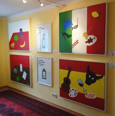 E.S.K. Pop Art Kunst by Eileen Susanne Kreipl in der kleine Galerie Waging