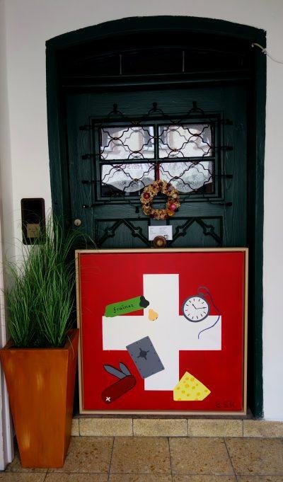 Schweiz - E.S.K. Pop Art Kunst by Eileen Susanne Kreipl in der kleine Galerie Waging