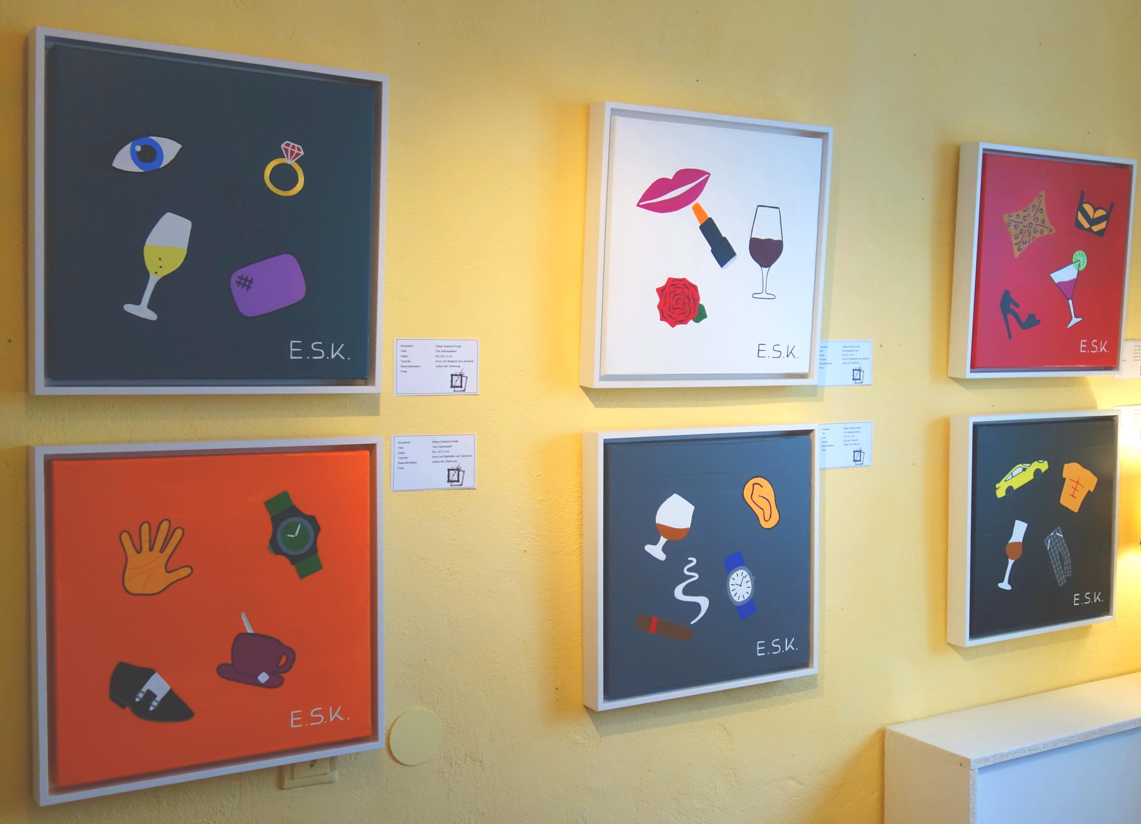 Typen - E.S.K. Pop Art Kunst by Eileen Susanne Kreipl in der kleine Galerie Waging