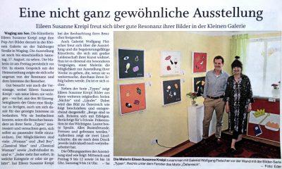 Pop Art Ausstellung Kunst Waging am See Eileen Susanne Kreipl E.S.K.