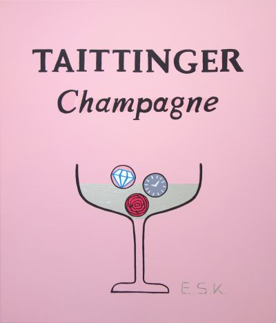 Taittinger Perlage der Träume Pop Art Kunst by Eileen Susanne Kreipl E.S.K.