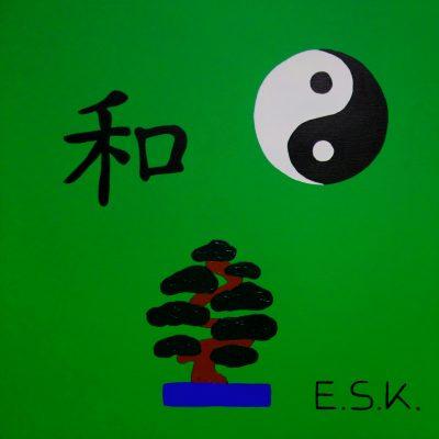 Pop Art Asia Eileen Susanne Kreipl E.S.K. Kunst Harmonie - Balance - 和