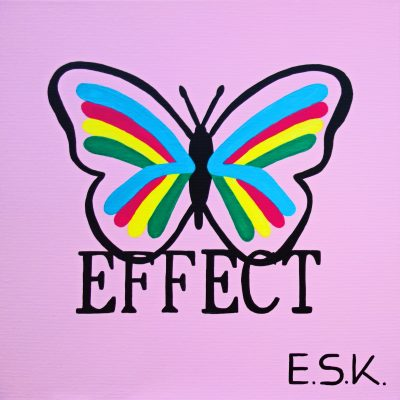 Butterfly Effect - E.S.K. pop art - Kunst von Eileen Susanne Kreipl 30 x 30 x 4 cm