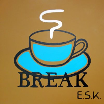 Coffee Break - E.S.K. pop art - Kunst von Eileen Susanne Kreipl 30 x 30 x 4 cm