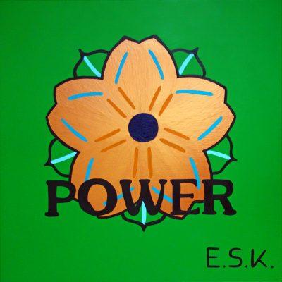 Flower Power - E.S.K. pop art - Kunst von Eileen Susanne Kreipl 30 x 30 x 4 cm